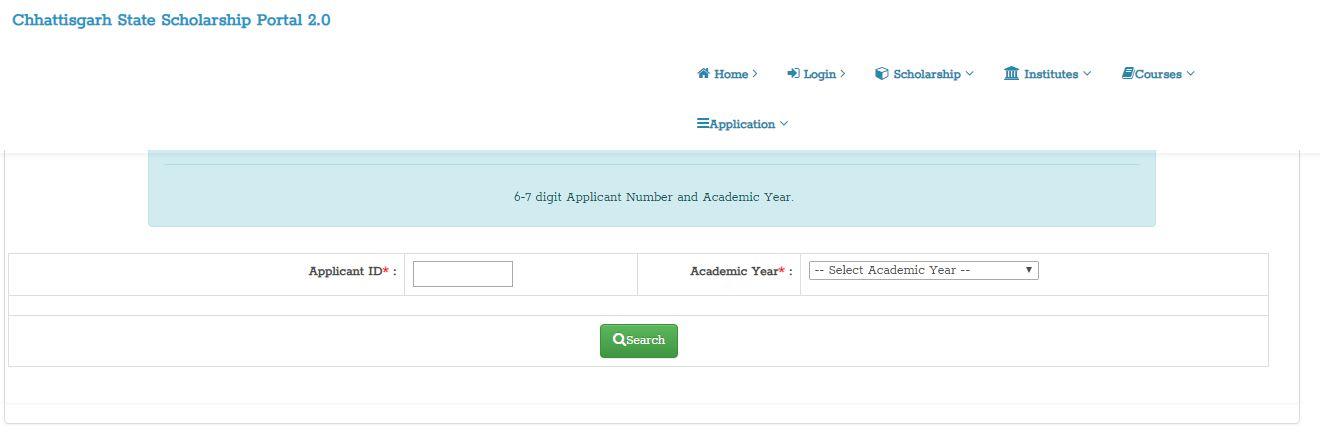 Chhattisgarh Scholarship Status