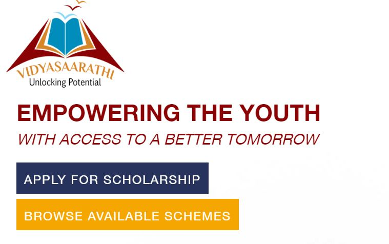 [Status] Vidyasaarathi Scholarship 2019 - Application Form, Last Date, Eligibility Criteria, List