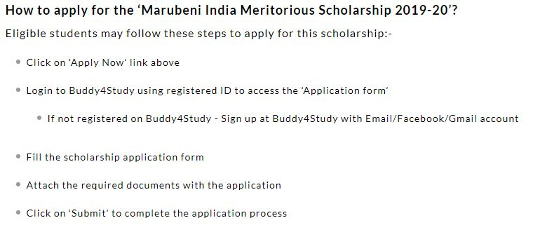 How To Apply For Marubeni India Meritorious Scholarship