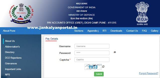 [BRO] PAO GREF Pay Slip PDF Download @ paogref.nic.in