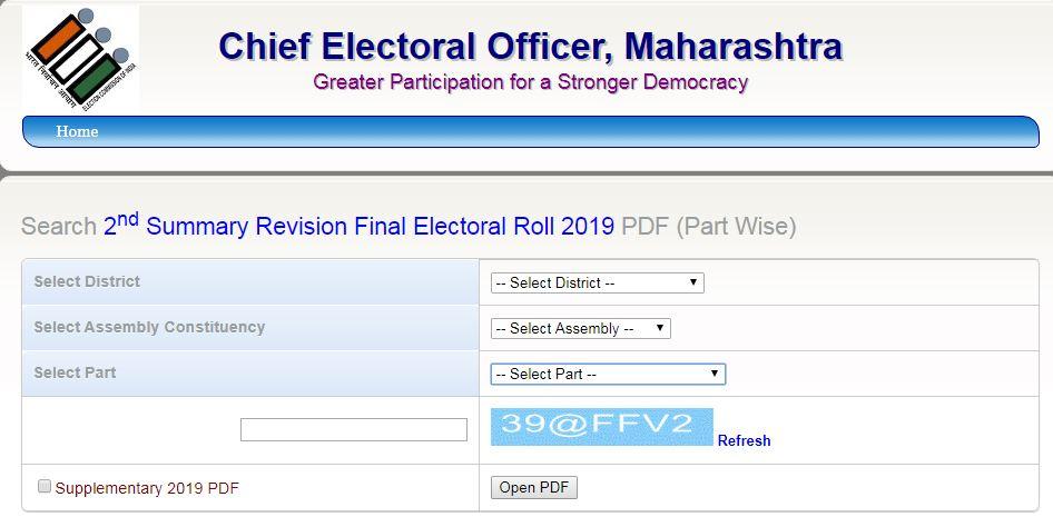 ECI Voter List Maharashtra District Wise