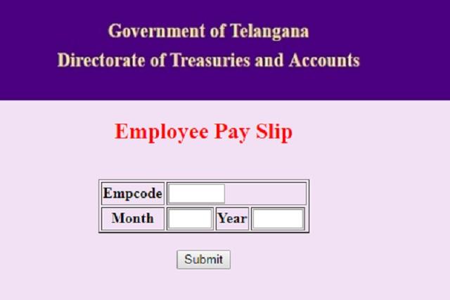 [Employees and Teachers] Telangana Treasury Pay Slip Download - treasury.telangana.gov.in