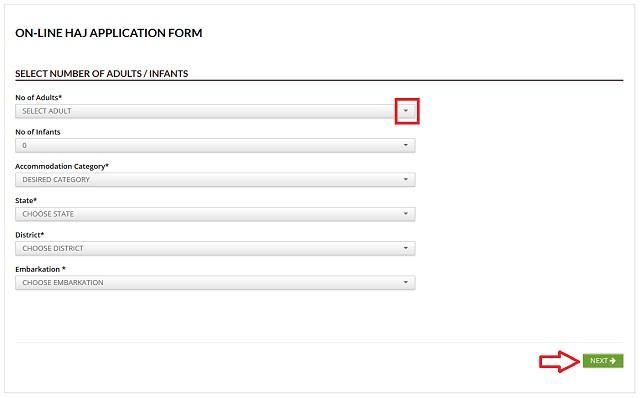 Hajj Online Form