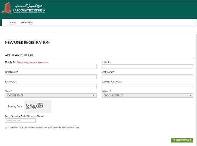 Hajj Registration
