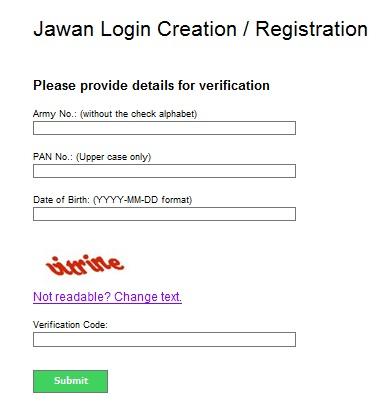 PAO AMC Jawan Registration