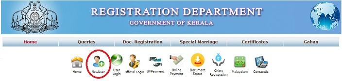 keralaregistration.gov.in Registration Department Application Form Online 1
