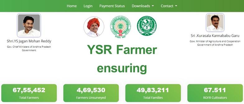 ysrrythubharosa.ap.gov.in YSR Rythu Bharosa Payment Status Beneficiary List District Wise