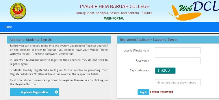 THB College Online Admission (thbcollege.com) - Application Form, Dates, Eligibility, Fees