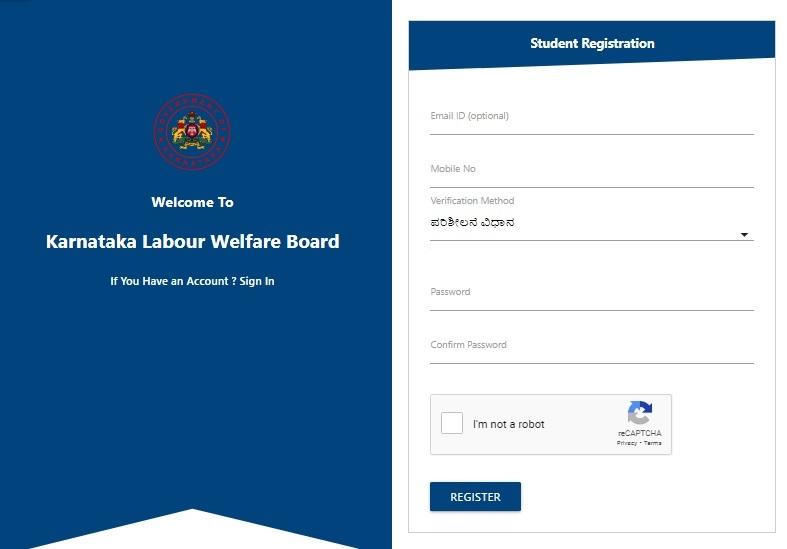 klwbapps.karnataka.gov.in Scholarship Registration