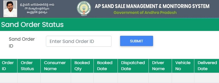 AP Sand Online Booking Portal Registration, Login