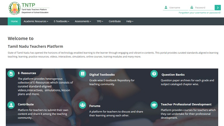 TN Emis tntp.tnschools.gov.in Login Page - TNTP School Login App Download [Teachers Profile]