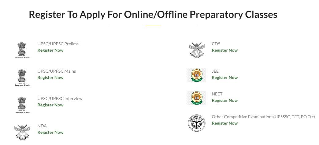 Uttar Pradesh Abhyudaya Muft Coaching Yojana Registration