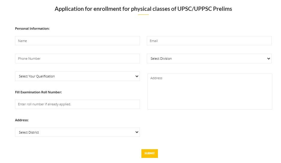Uttar Pradesh CM Abhyudaya Free Coaching Scheme Registration