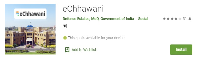{ई-छावनी} e-Chhawani Portal 2021 App - Municipal Services At www.echhawani.gov.in