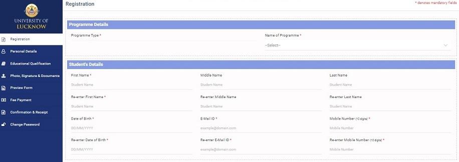 {LU} Lucknow University Admission Online Application Form Last Date - UG PG Apply Online