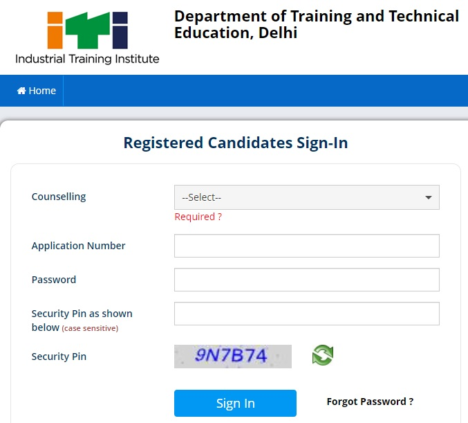 itidelhiadmissions.nic.in - ITI Delhi Admission Registration Form Last Date, Counselling