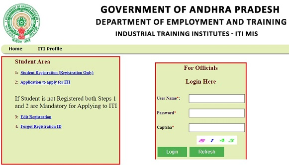 AP ITI Admission Online Application Registration Last Date - Apply Online At iti.nic.in