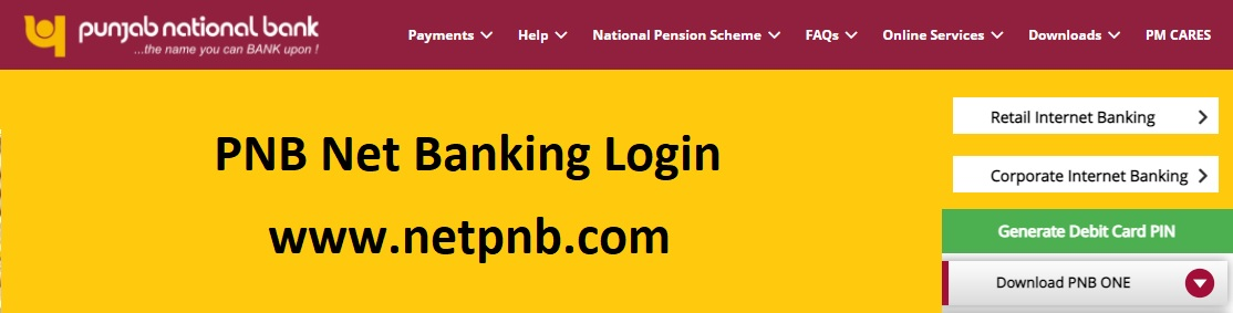 PNB Net Banking Login - Online Internet Banking Registration [Credit Card, Corporate]