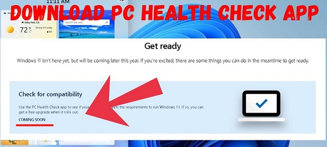 Microsoft PC Health Check App Download - Windows 11 Health Check Software