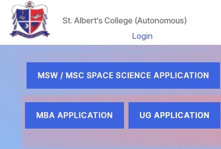 St Alberts College UG Admission 2021 Last Date - Provisional & Final Rank List